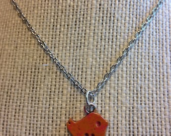 "14"" Pink and Orange Dove Necklace"