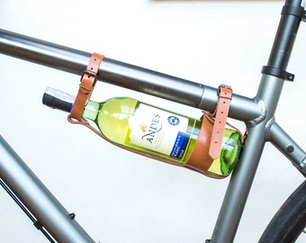 Personalized bicycle wine bottle holder. Bicycle wine rack. Bicycle bottle holder. Wine holder. Bicycle wine holder. Bicycle bottle carry.