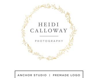 Premade Logo Design - Small Business Logo - Wreath Logo Design - Photography Logo