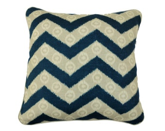 Ziz Zag , Isabelle De Borchgrave - linen and cotton cushion / pillow cover 50 x 50 cm or 45 x 45 cm