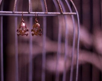 Mini Micro Skull Earrings