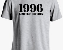1996 Limited Edition-19th Birthday Gift 19th Birthday Shirt 19 Years Old for Him or Her