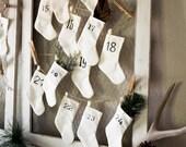 Advent Calendar Miniature Christmas Stockings