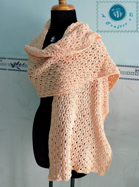 Free Crochet Pattern Wrap Sweater : Crocheted sequins wrap