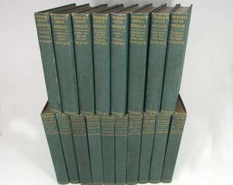 Louise Muhlbach 18 Volumes Antique Books 1902 Library Edition Shabby Chic