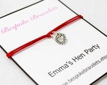 Hen party favors, Charm bracelet, Macrame Bracelet, hen party accessories, hen party gift, hen party invitation, wedding bracelet, bride