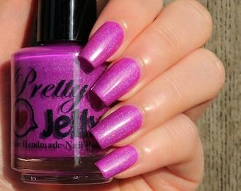 Nail Polish, Holographic, Indie Nail Polish, Holo Polish, Purple Nail Color, Neon, Bright Summer Nails, Custom Varnish, SCENTED MARKERS