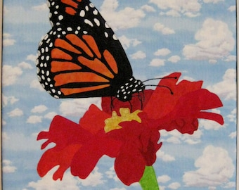 Monarch Butterfly Art Quilt