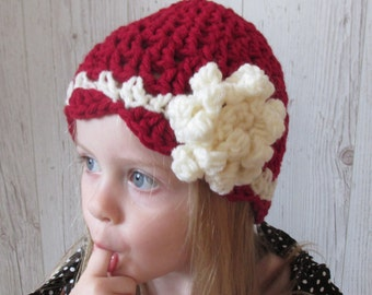 Baby gifts, kids Christmas outfit, holiday outfits,toddler gift,Baby Hat, Toddler Hat, Girl Hat, Red White Hat, Baby Beanie, Girls Beanie