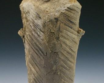 Wood fired Hikidashi Vase with Natural Ash Glaze #5