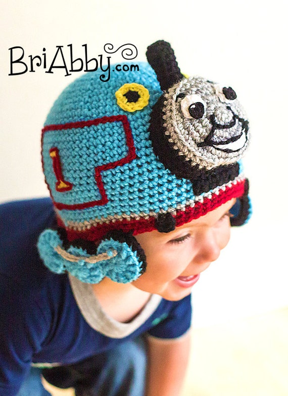 Free Crochet Hat Pattern For Thomas The Train : Crochet Train Hat PATTERN (PDF FILE)