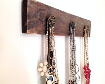 Wooden Jewelry Organizer, Wooden Necklace Holder, Necklace Holder, Necklace Display, Rustic Jewelry Display, Jewelry Display, Jewelry Holder