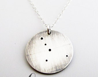 Constellation Necklace - Lunar Jewelry- Sterling Silver Necklace - Cancer Necklace - Zodiac Necklace - Constellation Jewelry