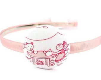 Baby Pink Headband/ White Headband/ Toddler Headband/ Girl Headband/ Children Headband/ Cute Retro Headband