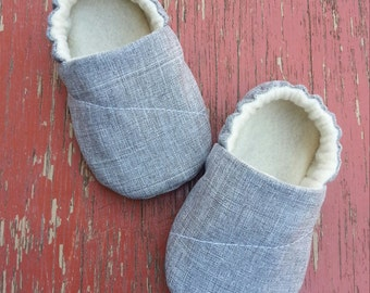 Grey Baby Boy Shoes - Lil Timmy.