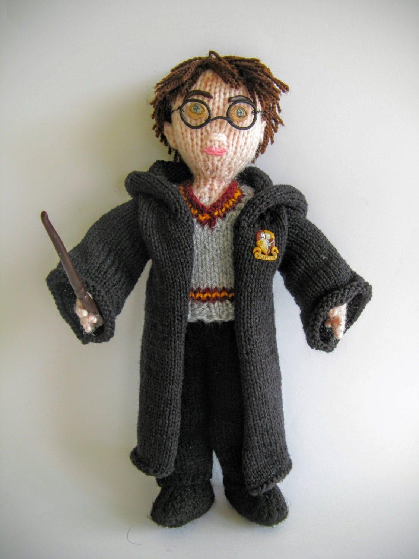 Knitted Harry Potter wizard doll fantasy novel fantasy