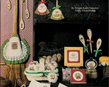 Canterbury Designs Country Christmas Classics Book X, Cross Stitch Pattern, Canning Jar, Antiques, Quilt, Victrola, Egg basket, Pewter Plate