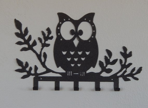 Owl key holderowl wall decorkey rackowl wall hookkey for Mural key holder