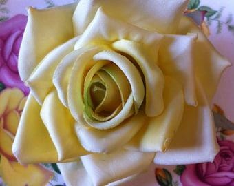 Pin-up Parlour Yellow rose clip, vintage inspired, bridal, wedding, bridesmaids, pinup, rockabilly, burlesque, retro