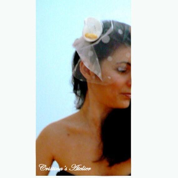 Calla lily bridal head piece.Crochet headpiece. Calla crochet fascinator. wedding accessory, flower fascinator, calla hairclip. Fashion clip