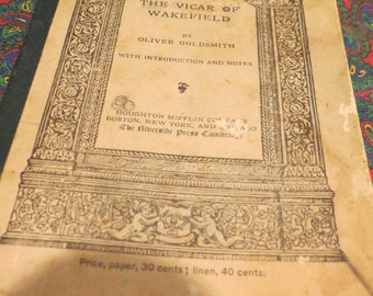 The Vicar of Wakefield - Riverside Literature Series 1895 Houghton, Mifflen & Co
