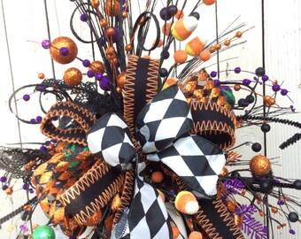 Halloween arrangement, pumpkin arrangement, Owl Halloween decoration, Halloween floral arrangement, Halloween party , halloween centerpiece