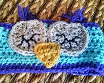 Kids/Toddler/infant Owl Crochet Headband