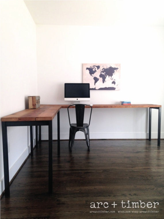 Like this item? - The Sawyer L-Shaped Desk Reclaimed Wood & Steel