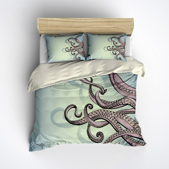 High quality Octopus inspired Duvet Covers by independent artists and designers from around the world. Some call it a duvet. Some call it a doona. Either way, it's too nice for that friend who always crashes at your place. All orders are custom made and most ship worldwide within 24 hours.