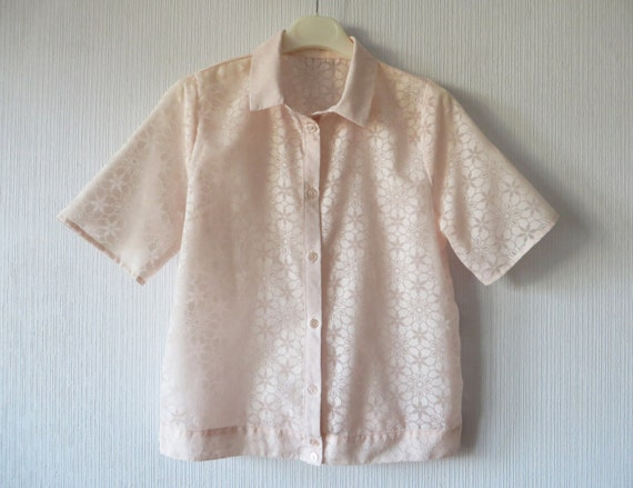 Womens Pale Pink Taffeta Blouse 45
