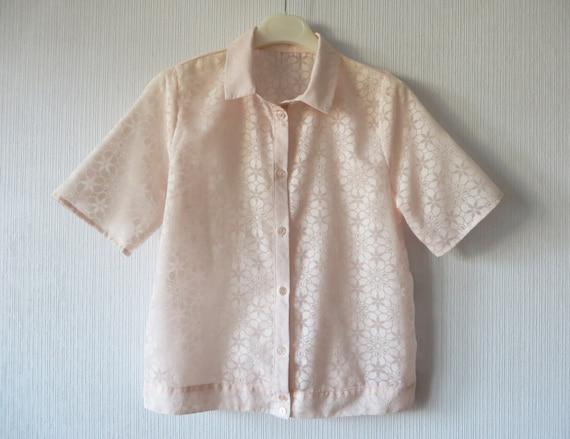 Womens Pale Pink Taffeta Blouse 91