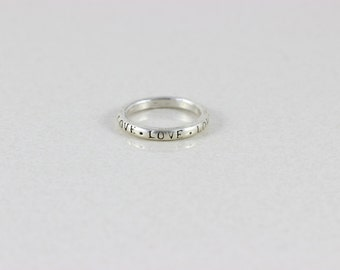 Sterling Silver Love Band Ring size 8