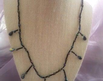 Black Rainbow Layer Necklace