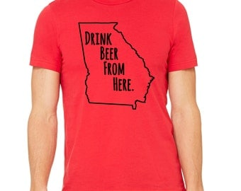 Georgia Bulldogs & Craft Beer- Drink Beer From Here UGA shirt