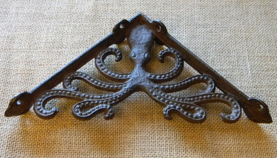 Cast Iron Victorian Style Octopus Shelf Bracket