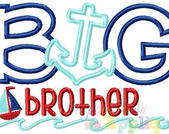 Nautical Big Brother Machine Embroidery Design