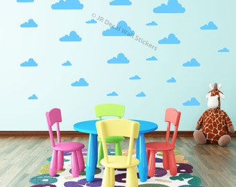 Cloud Wall Stickers Girl's boy's Nursery Room vinyl Wall Decals 40 pieces