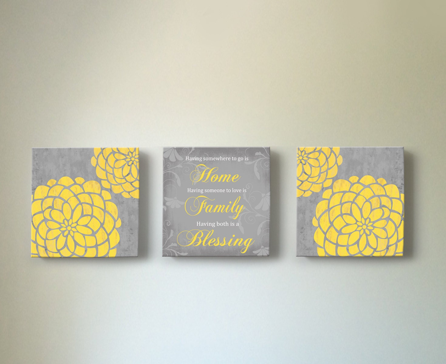 dahlia floral decor canvas wall art home blessing canvas wall