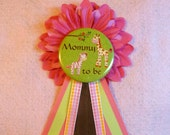Baby Shower Corsage / Guest of Honor Button Pin - Custom