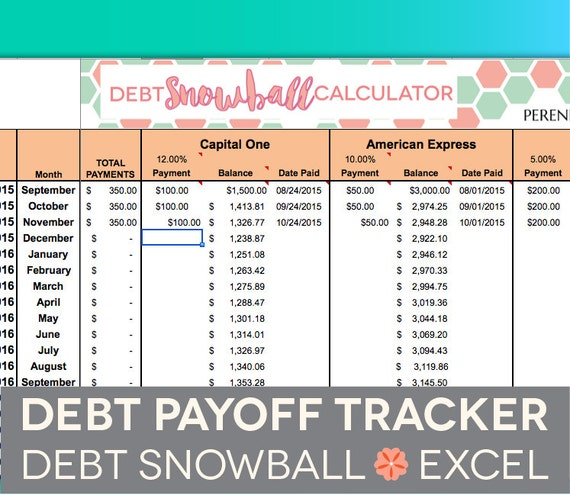 debt reduction planner excel
