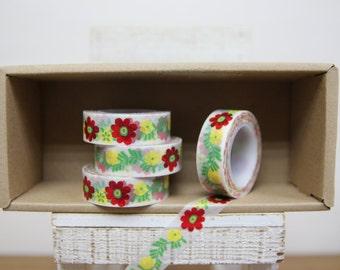 Washi Tape - scandinavian floral print - P47