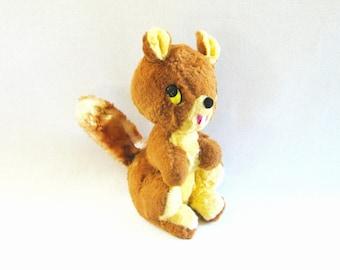 Vintage Stuffed Squirrel Kitschy Squirrel Gund Squirrel Plush Squirrel Mid Century Squirrel Toy Gund Stuffed Animal Vintage Woodland
