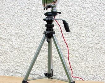Table/tripod floor lamp, Vintage Headlamp Light with tripod
