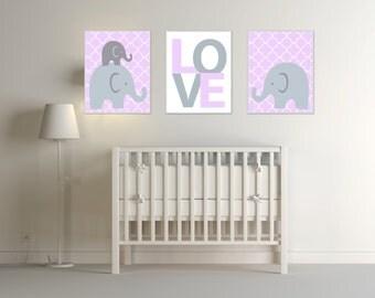 purple gray nursery etsy. Black Bedroom Furniture Sets. Home Design Ideas
