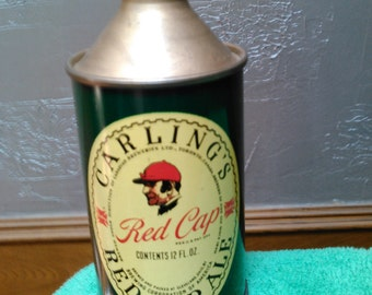 Carling's Red Cap Ale Conetop Beer Can