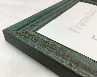 Rustic Blue Frame, Farmhouse Frame, Blue Shabby Chic Frame, Weathered Frame, Farmhouse Style Frame 16x20, 11x14, 8x10, 5x7, 4x6, + Any Size