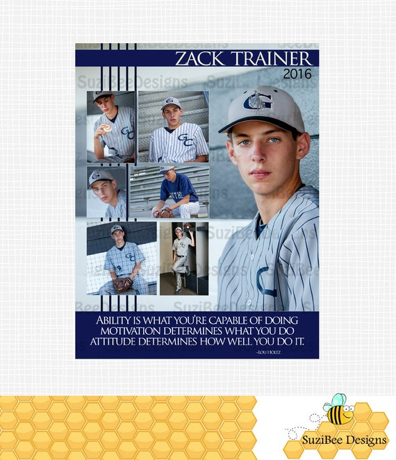Yearbook ad template high school senior middle elementary