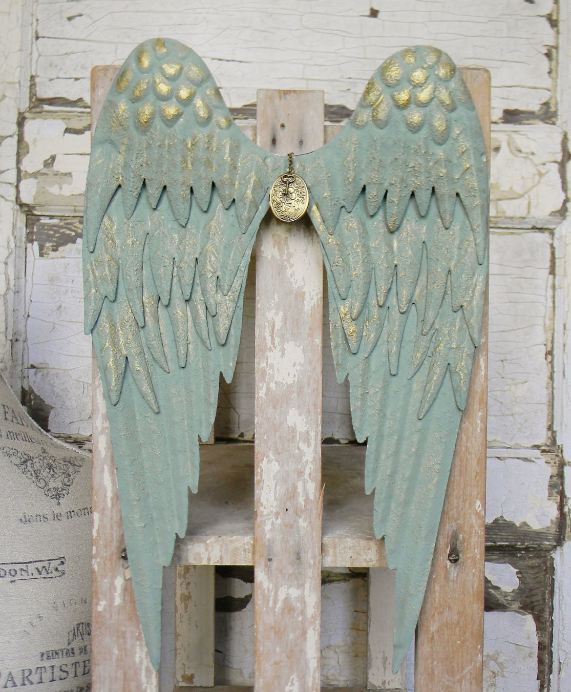 Decorative Wall Hanging Angel Wings : Angel wings wall decor wing by colorfulcastandcrew