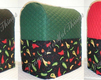 Black Quilted Cowhide Cover For Kitchenaid By