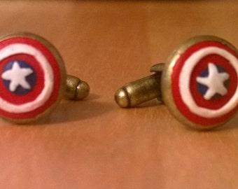 Captain America Cameo Cuff Links